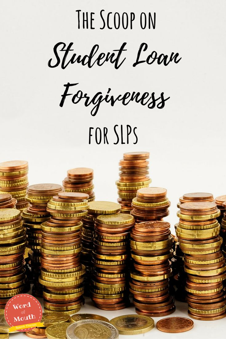 Want to learn about what options SLPs have for student loan forgiveness? Read on! [Word of Mouth]