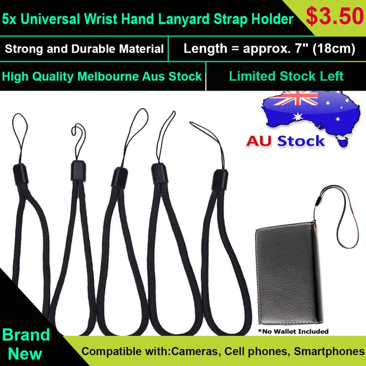 5x Universal Wrist Hand Lanyard Strap Holder For Smartphones USB MP3 MP4 Cameras  Fashionable Design, Strong and Durable Material for Cameras, Cell phones, Smartphones