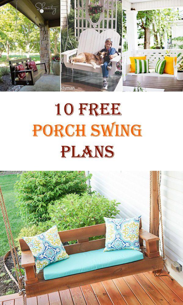10 Free DIY Porch Swing Plans & Ideas
