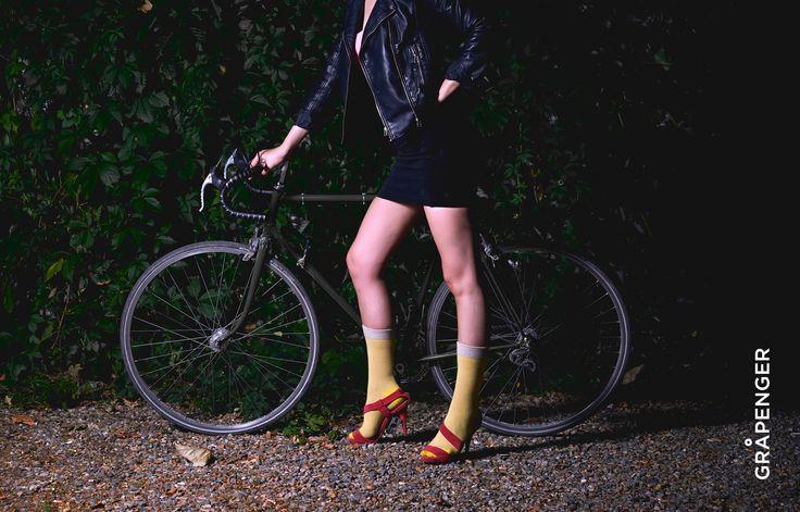 Fåshion Collection | GRÅPENGER #premium #colorful #socks #stripes #yellow #bike #grapenger #fashion #girl