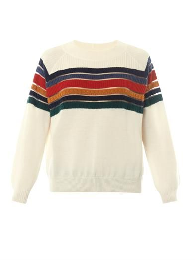 Rainbow merino-wool sweater | Band Of Outsiders | MATCHESFASHI...