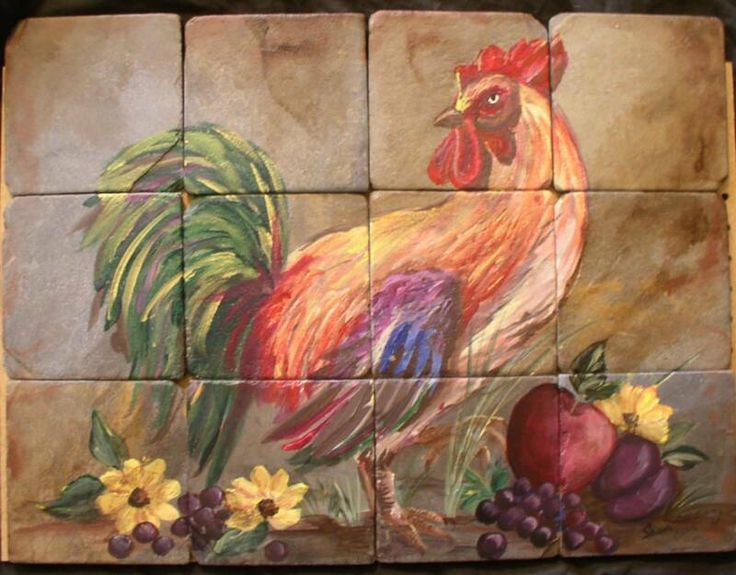 French+Country+Rooster+Decor | French Country Rooster in Window Sill