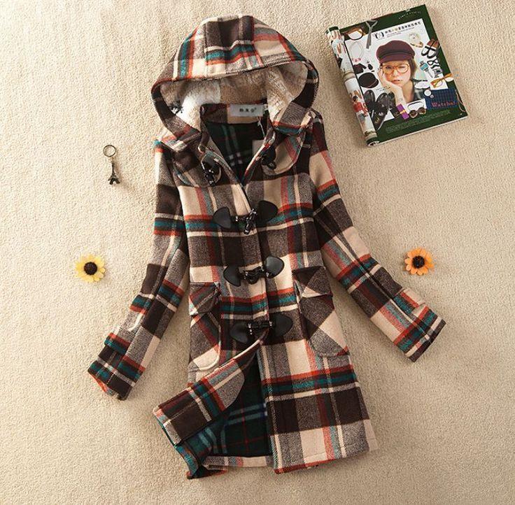 Retro  Womens Winter Coats Trench hooded Wool Jackets Toggle Duffel Parka Anorak #100NEW #BasicCoat