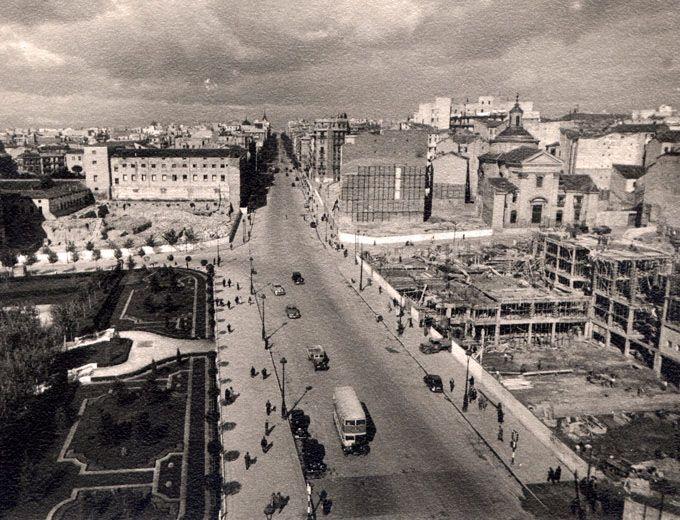 Calle Princesa, Argüelles, 1949 - Portal Fuenterrebollo