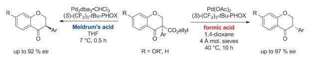 Acid choice flips enantioselectivity - Using the same catalyst and ligand but different acid reagents directs which enantiomer is made © Wiley-VCH