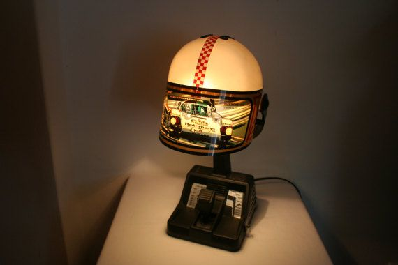Racing car helmet-lamp by the Spanish Fase. by DecadesOfFunkiness