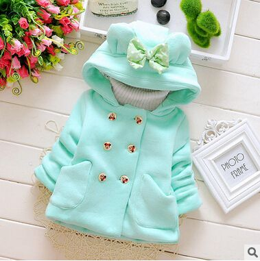 Autumn and winter sweet little girl long-sleeved hooded thick warm coat baby clothes newborn princess coat ROPA de Ninas Z2001