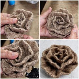 Reduce. Reuse. Recycle. Replenish. Restore.: DIY: How To Make A Burlap Rosette Using Sewing Machine