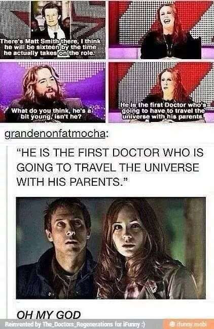 It just makes it weird that Amy tries to... You know... GET him and Karen Gillian is like 25 and he's only 16