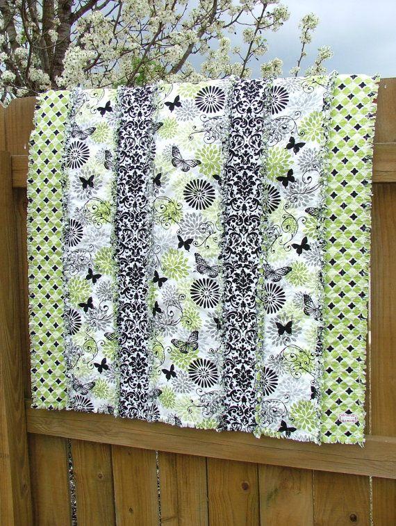 NEWBaby Rag Quilt / Playmat  Butterfly Baby in by mymaroonangel, $79.95