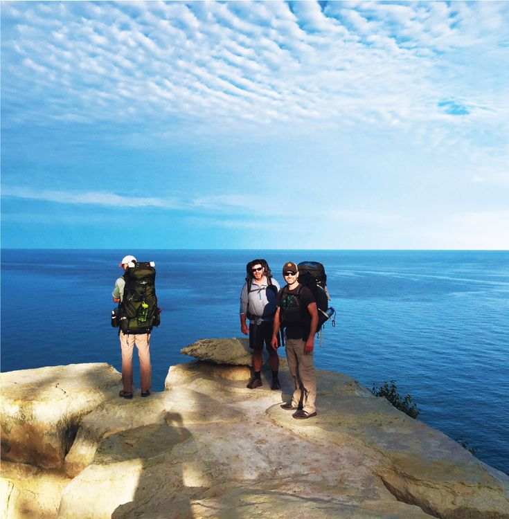 North Country Trail, a hiking trail which runs through Pictured Rocks along Lake Superior