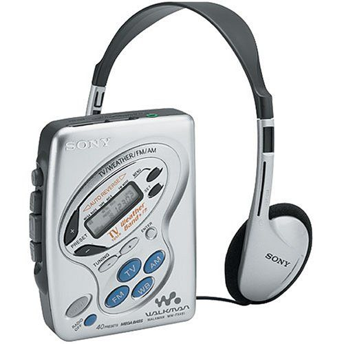 Sony WMFX481 Walkman Cassette Player with Digital TV/Weather/AM/FM Tuner