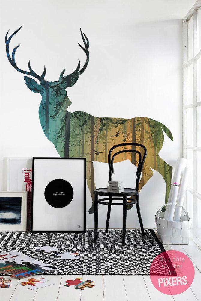 Cher Deer - inspiration stickers, la galerie des intérieurs• PIXERS.fr
