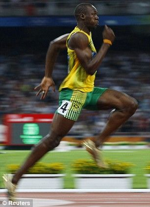 usain bolt .. the fastest man on earth that there has ever been .. holds the 100m world record 9.58 secs ...