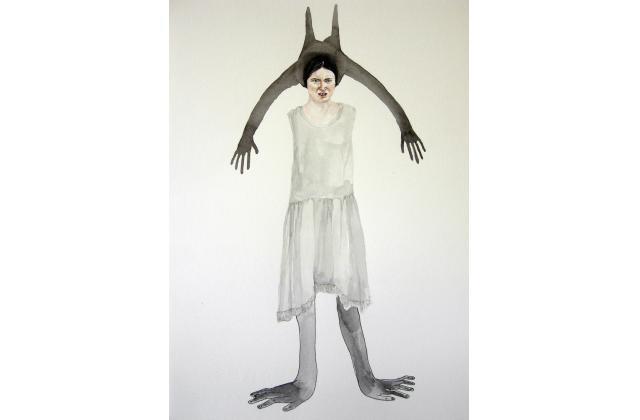 Phantom Limbs (Collaboration Erik Jerezano & Kristin Bjornerud)  |Encre et aquarelle sur papier (ink and watercolour on paper) |2010