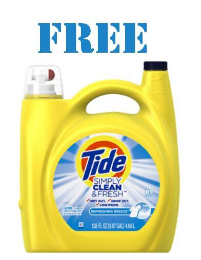 FREE Huge 138 oz Bottle of Tide Laundry Detergent after Cashback!