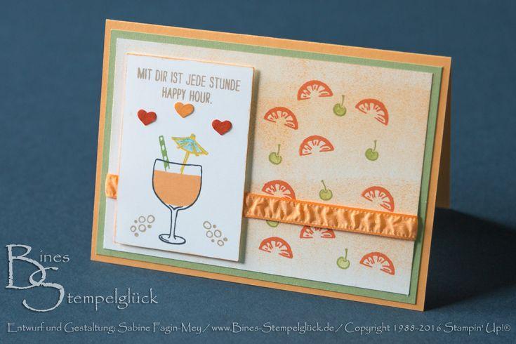 Stempelset Maßvolle Grüße, Pfirsich pur, Grußkarte, Stampin' Up!