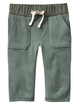 Contrast-waist knit pants // Gap