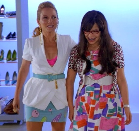 Swooning over this outfit on Amanda Tanen from the show Ugly Betty.
