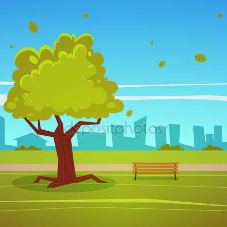 Lato park — Ilustracja stockowa #59800723