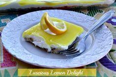 Mommy's Kitchen - Home Cooking & Family Friendly Recipes: Luscious Lemon Delight {Easy Easter Dessert} #lemon #easter #dessert