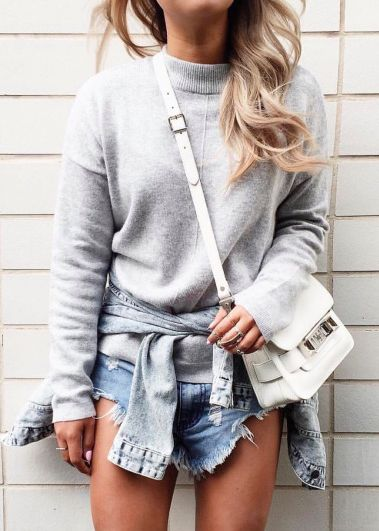 grey + white + denim