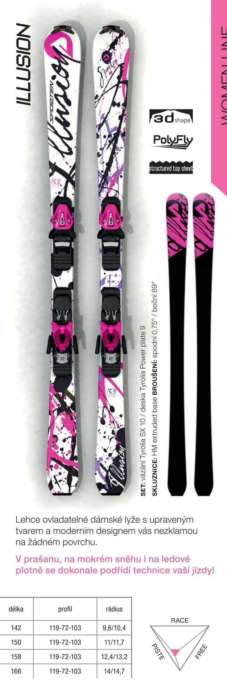 Women design - Illusion skis