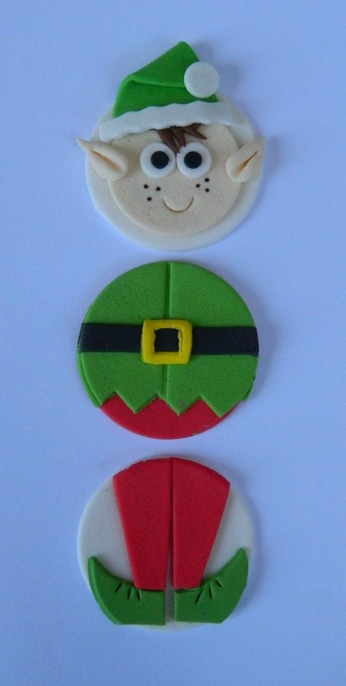 EDIBLE CAKE TOPPERS YOU ARE BUYING 12 x CHRISTMAS ELVES COMPLETON A DISC INCLUDING: 4 x ELF FACES 4 x ELF TUMMIES 4 x ELF LEGS MEASURING APPROX 4.5cm PLEASE ENSURE TO CONTACT ME AFTER PURCHASE ABOUT COLOURS AND REQUIRED DATES. GREAT FOR COOKIES AS WELL AS CUPCAKES AND