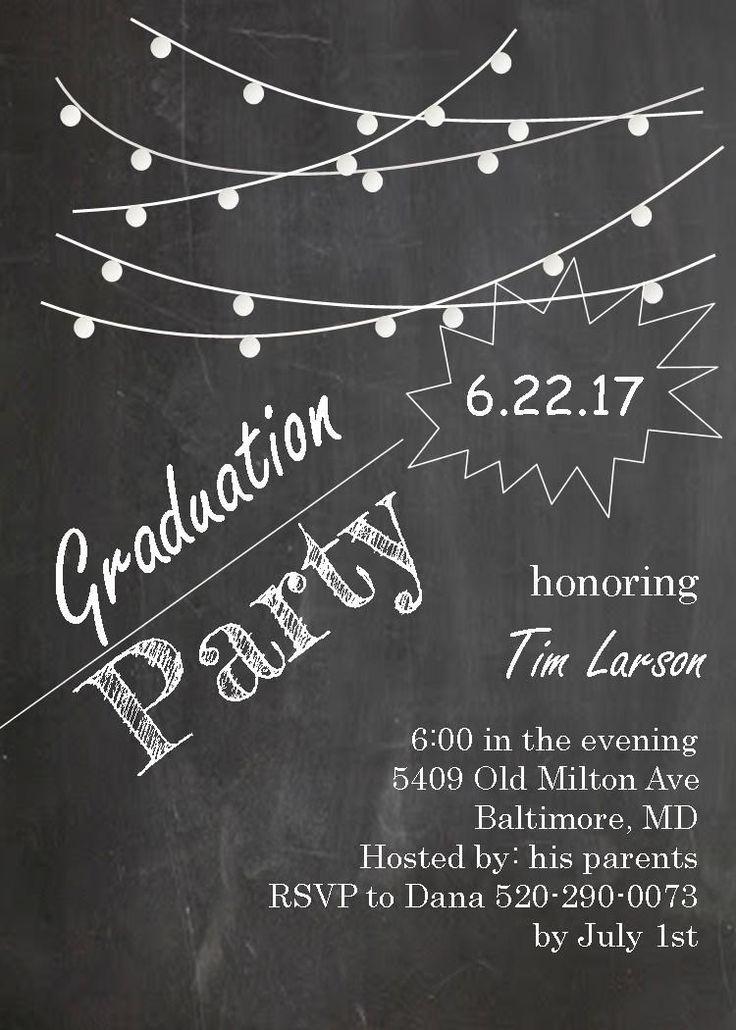31 best graduation invitation templates images on Pinterest | Grad ...