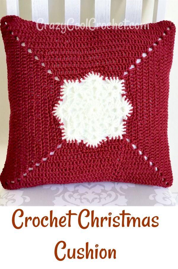 Your Crochet Christmas 2020 Crochet Christmas Cushion Free Pattern in 2020 | Crochet pillow