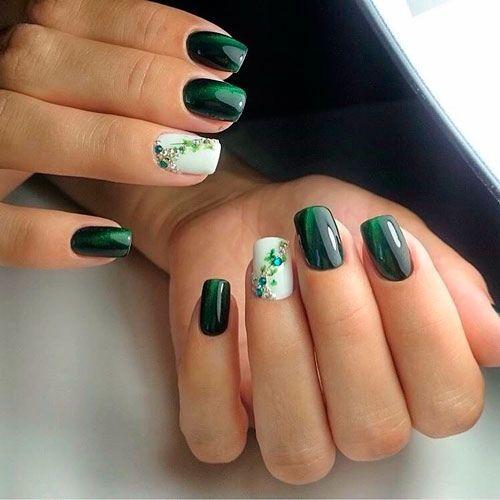 Elegante manicure verde