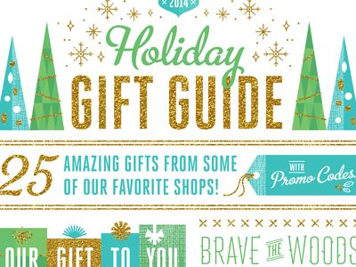 Our Holiday Gift Guide for 2014 is now up on the Brave Blog! We curated 25 products from some amazing shops, including unique promo codes to make it easier to purchase! Check out the entire lis...