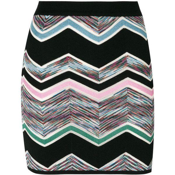 Missoni zig zag mini skirt (1.810 BRL) ❤ liked on Polyvore featuring skirts, mini skirts, black, mini skirt, missoni, colorful skirts, short mini skirts and missoni skirts