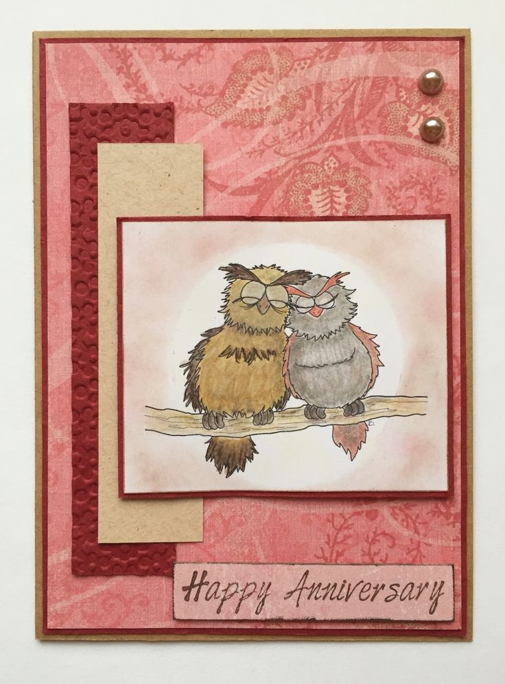 Happy Anniversary with Owl Love by Beccy's Place