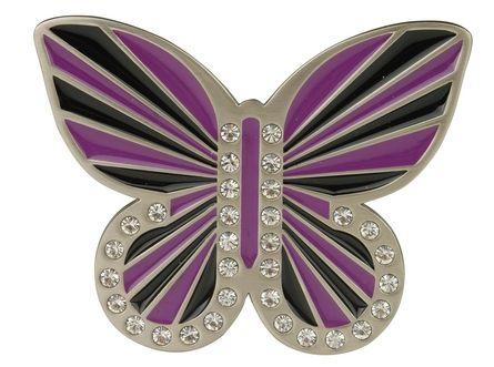 Purple and Black Butterfly Buckle by Druh Belts.  Buy it @ ReadyGolf.com