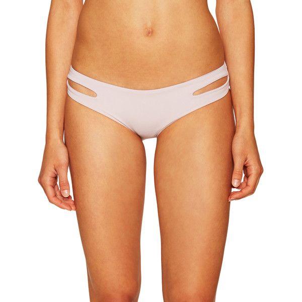 L'Space Women's Estella Classic Bikini Bottom - Purple - Size M ($42) ❤ liked on Polyvore featuring swimwear, bikinis, bikini bottoms, purple, lspace bikini, purple swimsuit top, cut out bikini, purple swim top and bottom bikini
