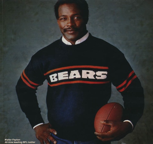 Walter Payton in Coach Ditka's favorite sweater