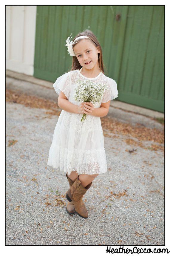 White Toddler Girls Lace Dress, Vintage Toddler Girls Dress, White Flower Girl Dress, Rustic Wedding, Birthday Dress, Beach Wedding on Etsy, $44.95