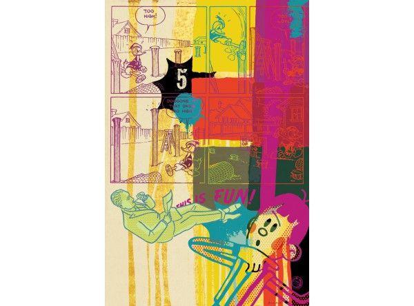 "TOO HIGH! / Print ""TOO HIGH!"" / 80x120 cm #artforwalls #love #decor #interiordecor #modernart #cartoon #popart #sovietcartoon"
