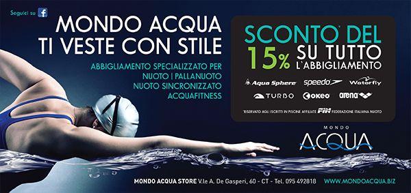 Ecco la nostra Aquacard! Per te in esclusiva sconto del 15% e promo su tutti gli articoli tutto l`anno! #negozio #nuoto #piscina #costumi #card #mondoacquact