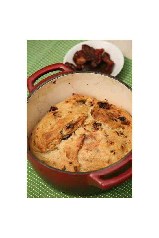 Sun-Dried Tomato Bread With Onion is wonderful bread with two garden favorites.