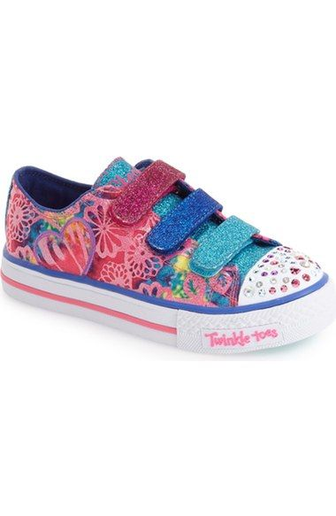 SKECHERS 'Twinkle Toes - Shuffles' Sneaker (Toddler & Little Kid) available…