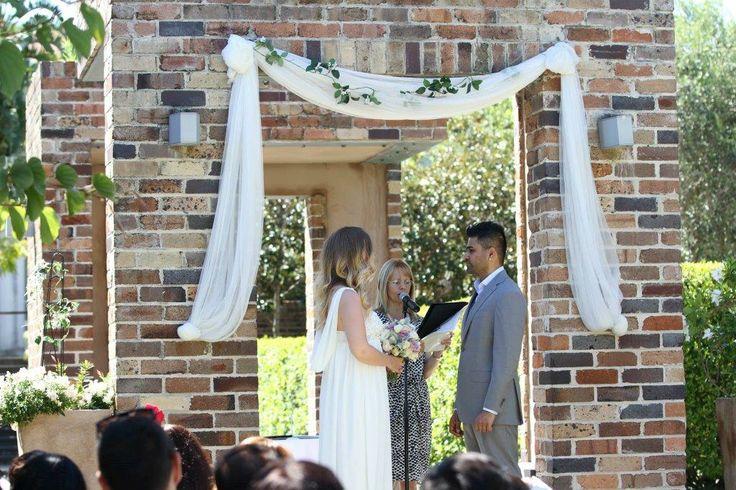 wedding ceremony at Eden  gardens , Ryde