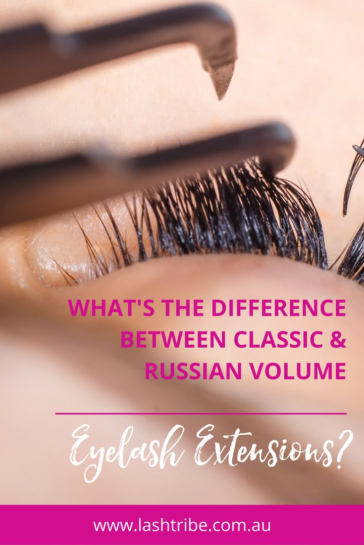 Classic eyelash extensions is typically 1 synthetic lash is applied per natural lash, making the lashes longer and a little thicker which adds a little more density. Click on the image to learn more!   Eyelash Extensions Business Tips   Lash Tribe Australia   Russian Volume