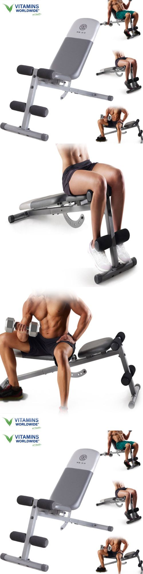 Bench Press Abs Part - 37: Benches 15281: Adjustable Weight Bench Slant Xr 5.9 Abs Workout Exercise  Incline Flat Press -