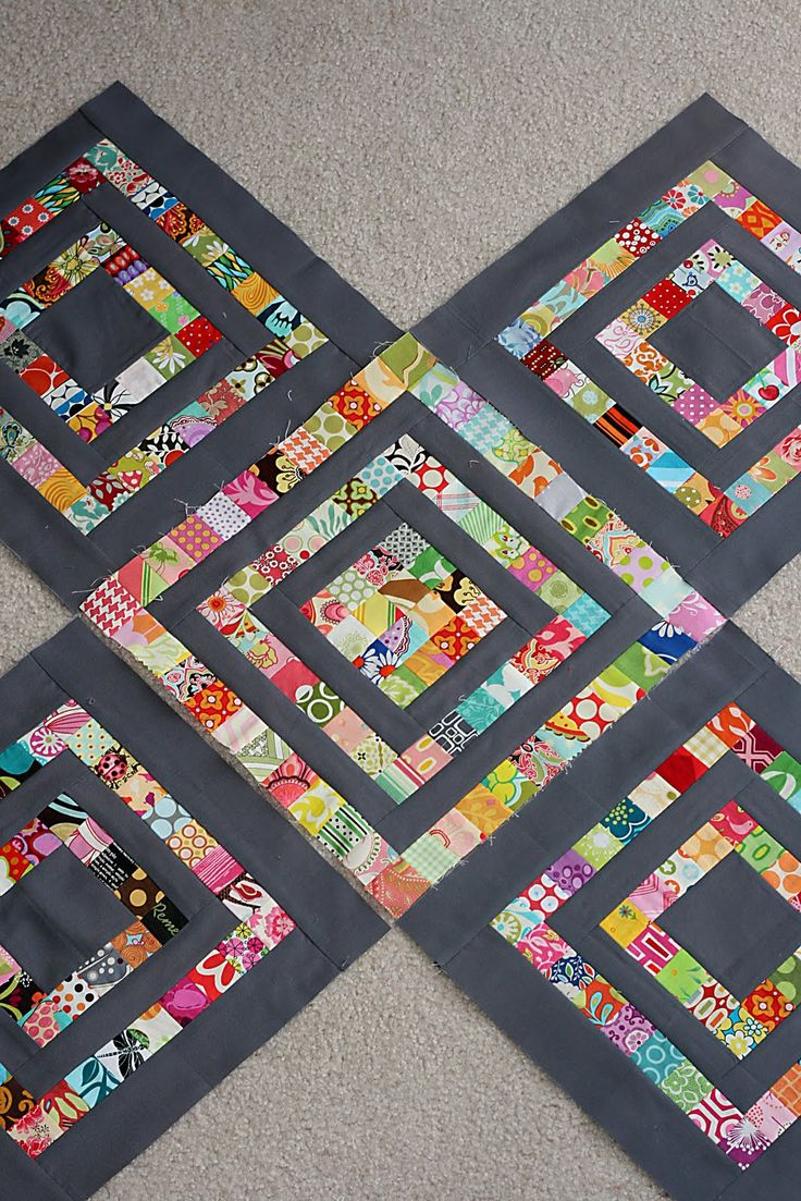 "Scrapbuster block from Little Miss Shabby - the squares start 1 1/2"", probably too small for an L for me, probably strips is a better approach for me"