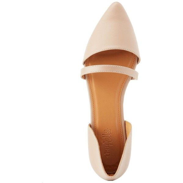 Charlotte Russe Pointed Toe Accent-Strap Flats (81 NOK) ❤ liked on Polyvore featuring shoes, flats, nude, strappy flats, charlotte russe flats, pointy-toe flats, pointed-toe ankle-strap flats and nude strappy shoes