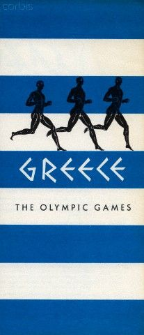 """Brochure titled """"Greece, The Olympic Games"""", 1959 #kitsakis"""