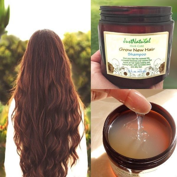 This Grow New Hair Shampoo is loaded with nutrients and vitamins from plant extracts, oils and essentials that have been used since ancient times until today.Give your hair the renewed life, increased thickness and volume that leaves all hair types looking and feeling fuller, with incredible shine and silky feel.