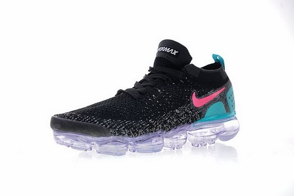 f9d8875c9bc6 Unisex Nike Air VaporMax Flyknit 2 0 Sneakers Black Pink Blue Purple  942842-003